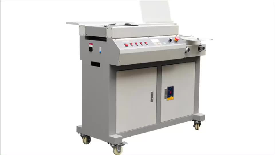 Automatic A4 perfect binding machine with spine glue