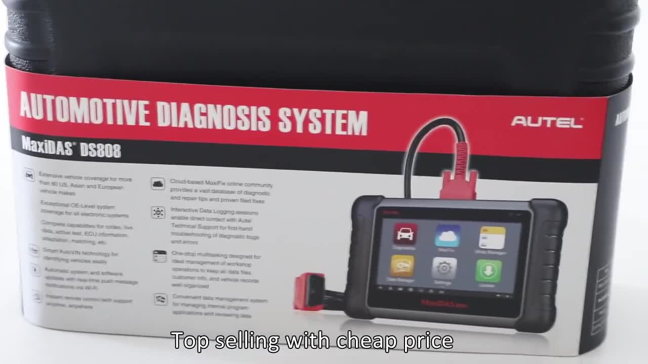 Best Automotive Diagnostic Tool Autel Maxidas DS808 Upgraded From DS708 OBD2 Diagnostic Machine For All Cars