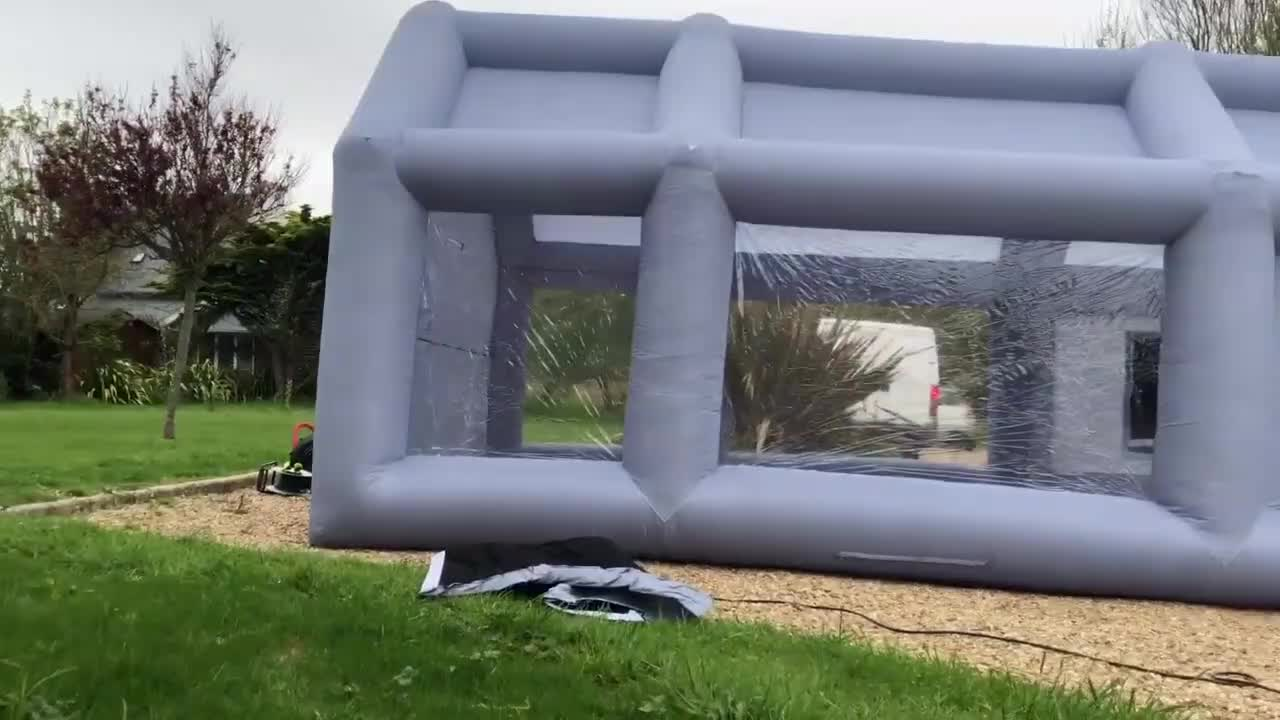 Cheap inflatable car booth tent, used portable inflatable spray booth for sale