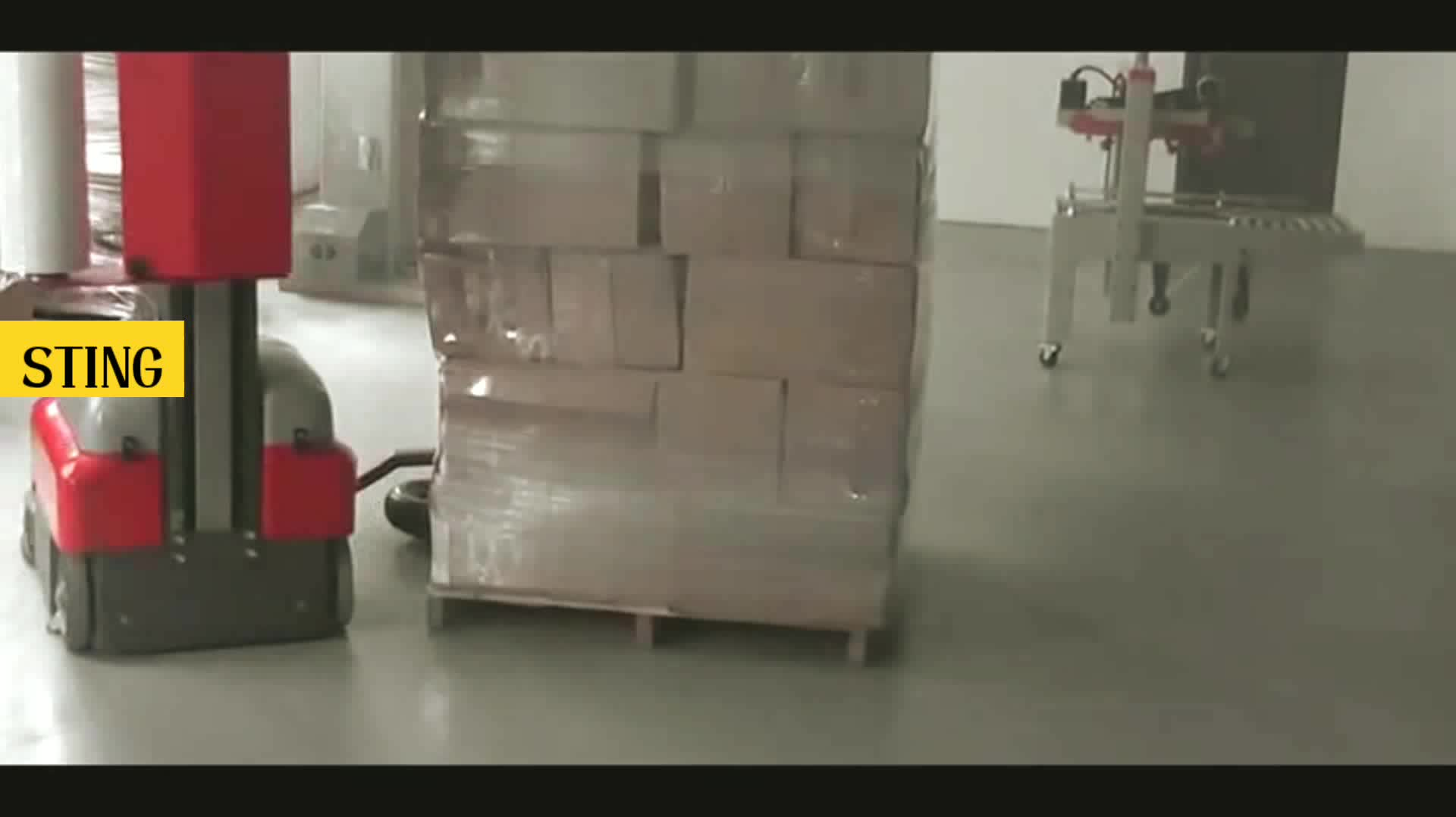 Turntable Robot Mobile Stretch Film Pallet Wrapper Wrapping Machine Manufacturers Online For Sale