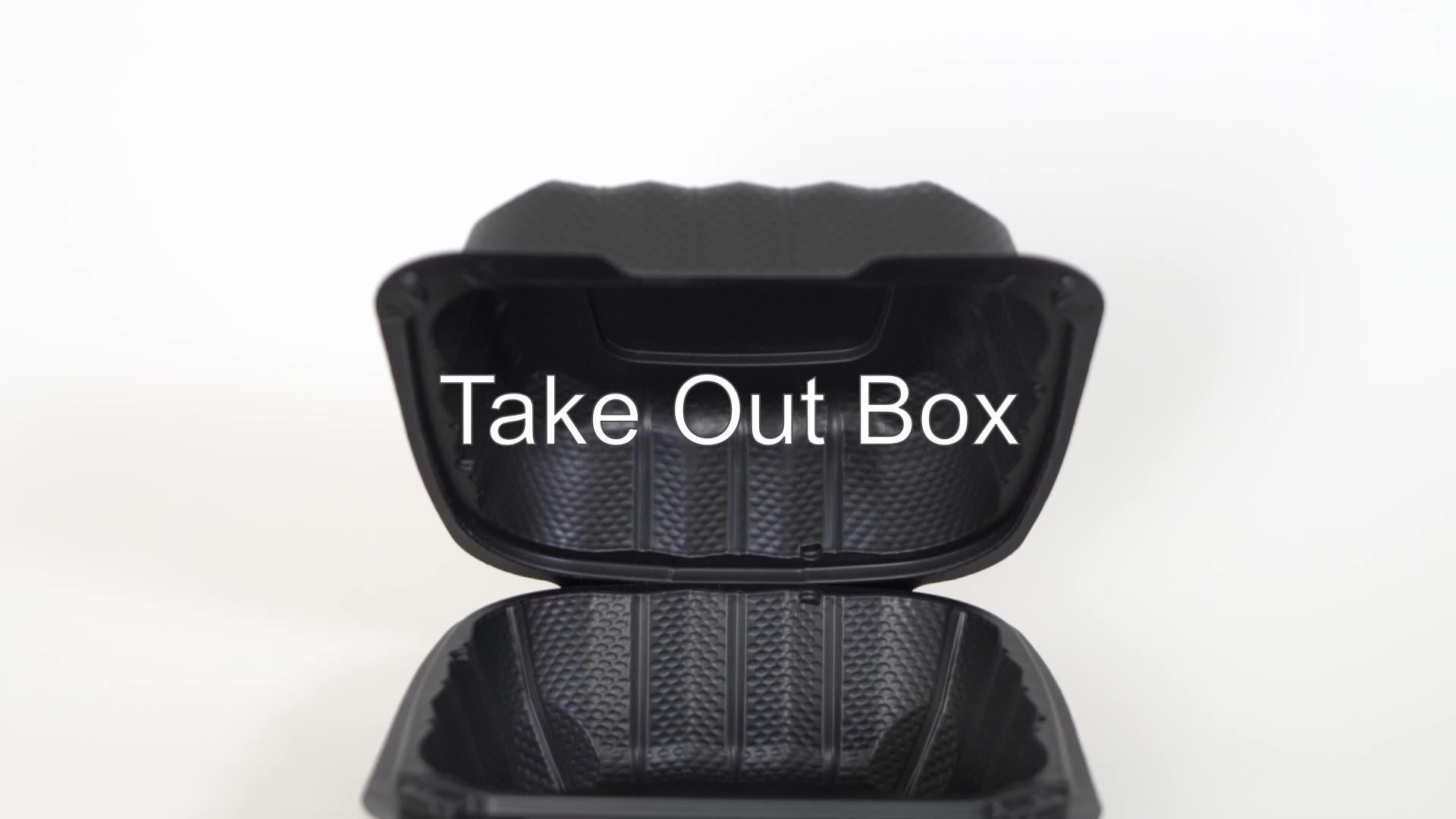 Caja de plástico desechable para llevar alimentos, caja de plástico para llevar alimentos, personalizable, de fábrica