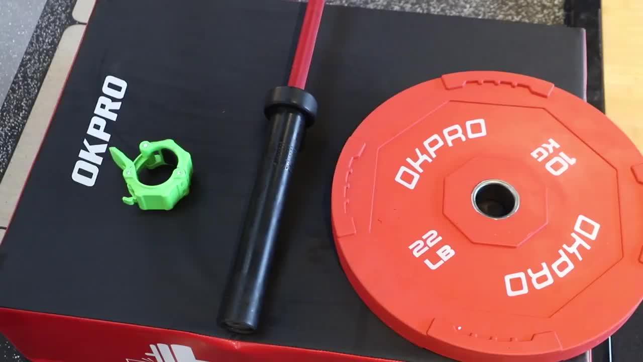 OKPRO Aptidão Powerlifting Halterofilismo Barra de 15 kg ou 20 kg Cor Cerakote Barbell