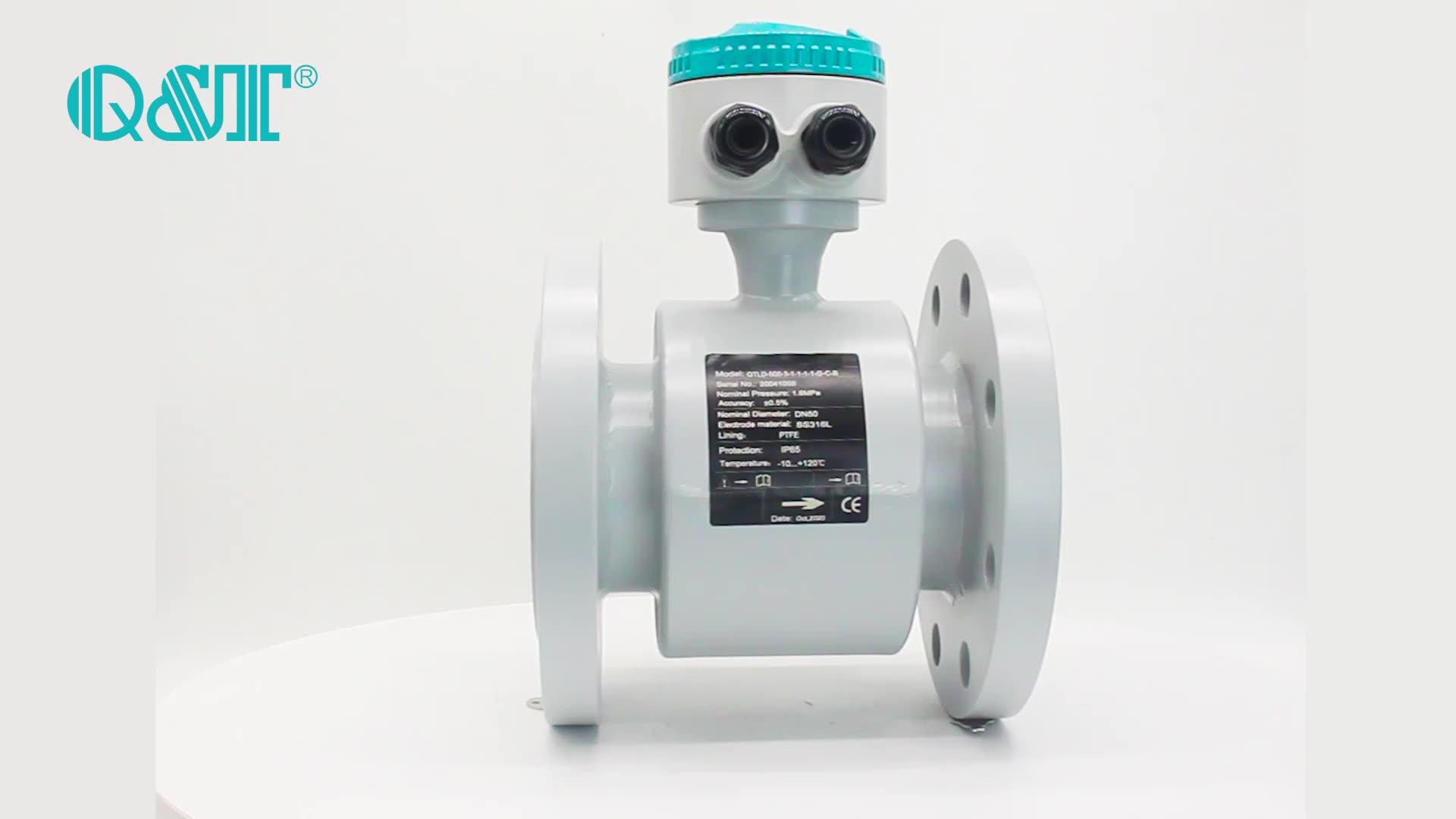 dirty water non full pipe magnetic flowmeter