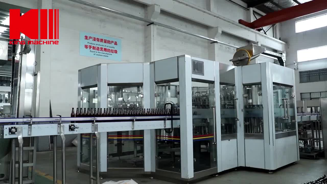 Whole line solution glass bottle beer washing filling capping machine