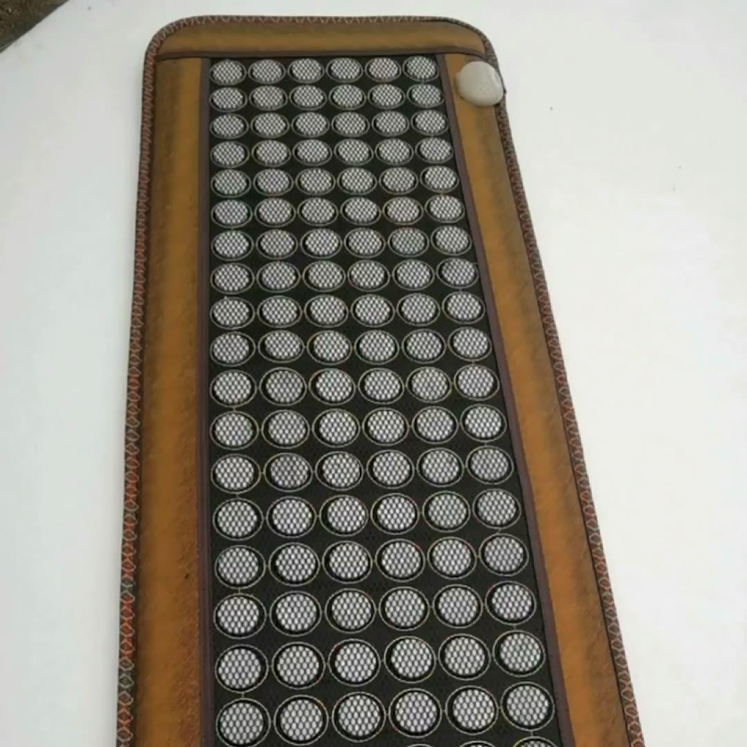 뜨거운 전기 옥 침대 가열 마사지 매트리스 전기석 돌 소파 패드 적외선 난방 매트