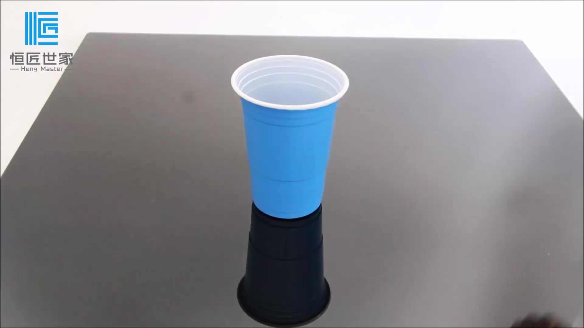 5 oz özel tek kullanımlık plastik şeffaf su bardağı içme