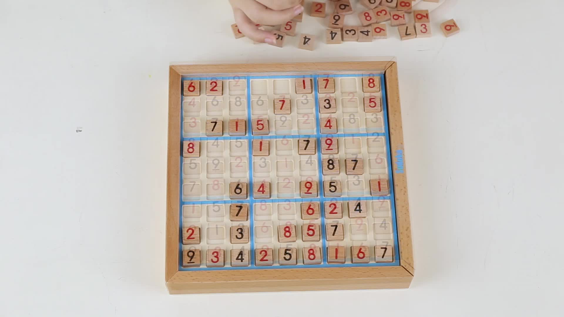 Number educational learning puzzle kids logic game toy children wooden sudoku