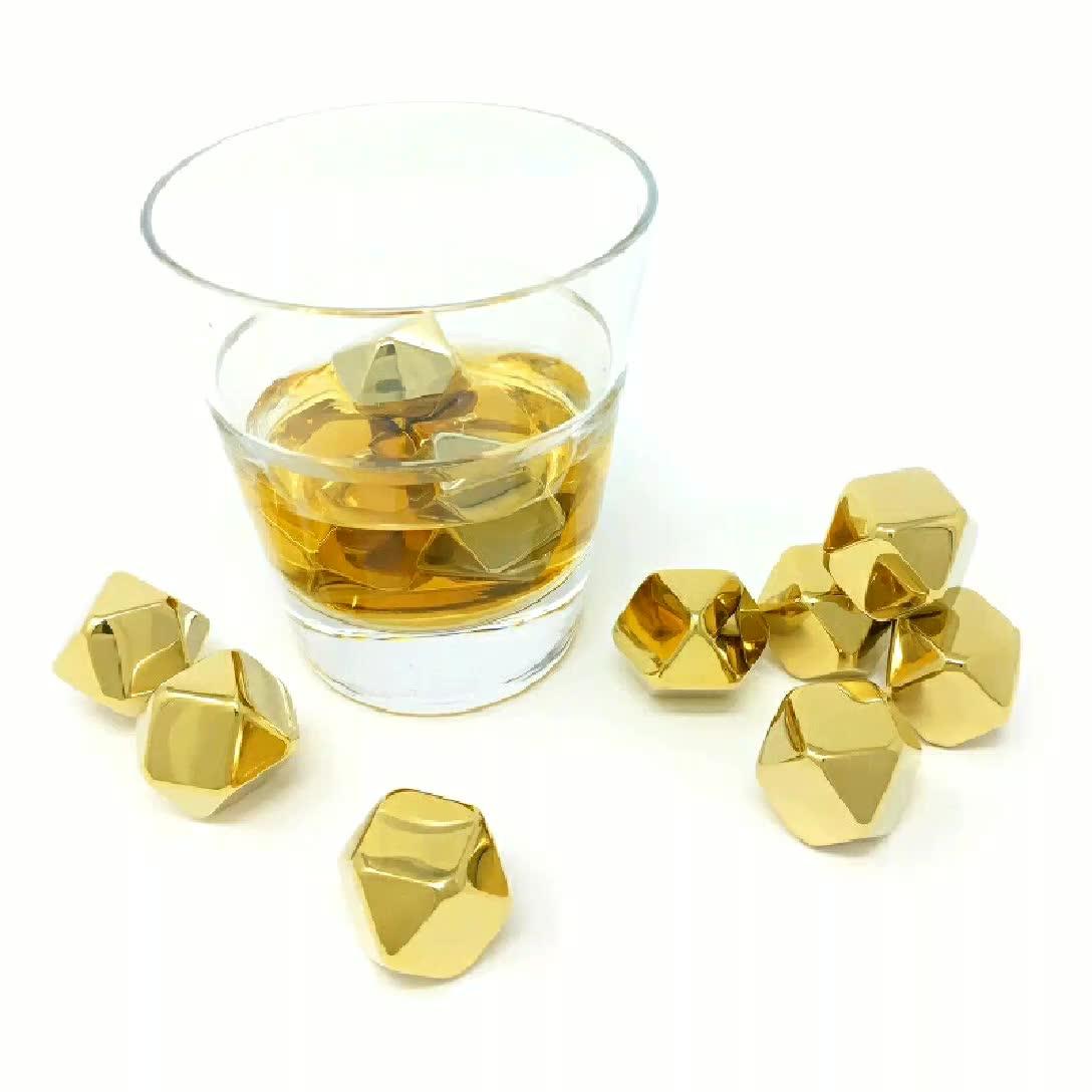 Amazon Venta caliente hielo Cubo de acero inoxidable 304 de la barra del Partido de cena escalofriante piedra whisky cubo de hielo