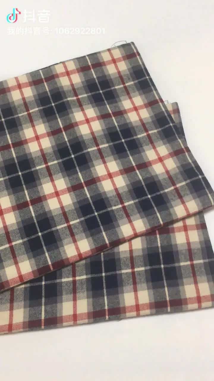 19FW  19SS 100 Cotton Woven Yarn  Dyed  Check  Fabric For Garment Shirt Soft  Touch  High  Quality