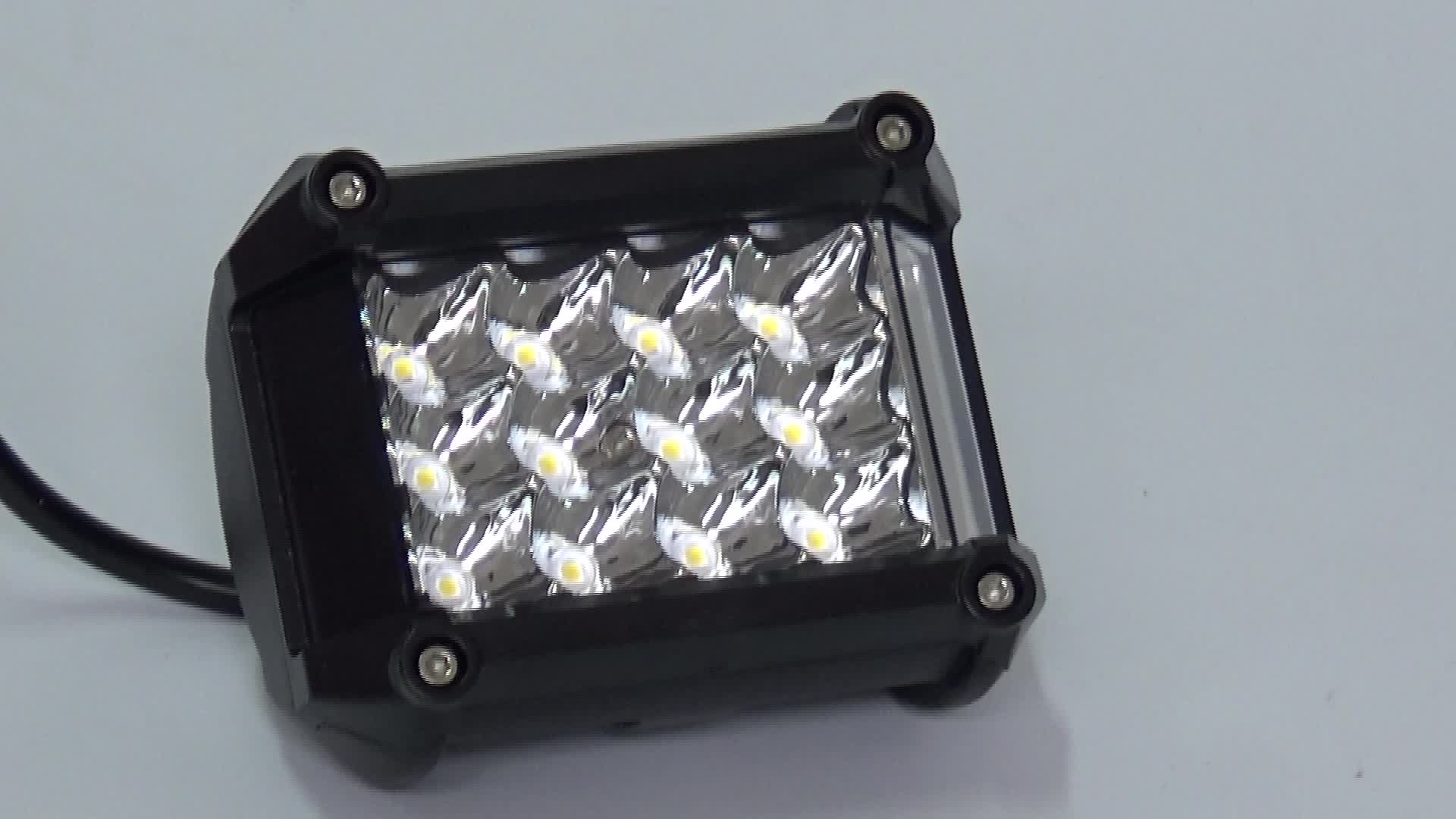 57W outdoor work black lights side marker trailer light stop lamp led truck