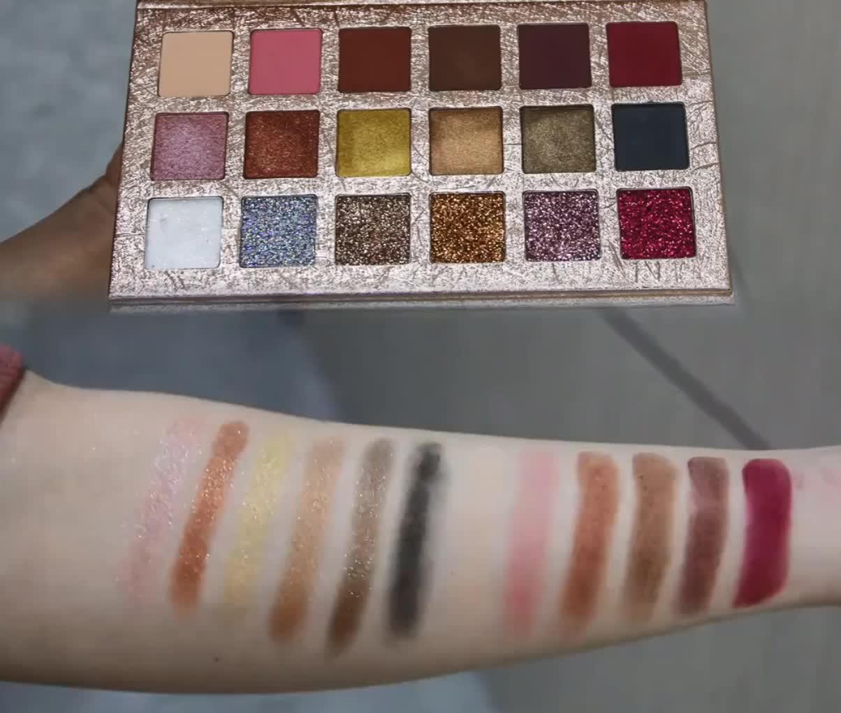 Heißer 18 Farbe Schimmer Glitter Lidschatten Pulver Matt Lidschatten Kosmetik Lidschatten Make-Up