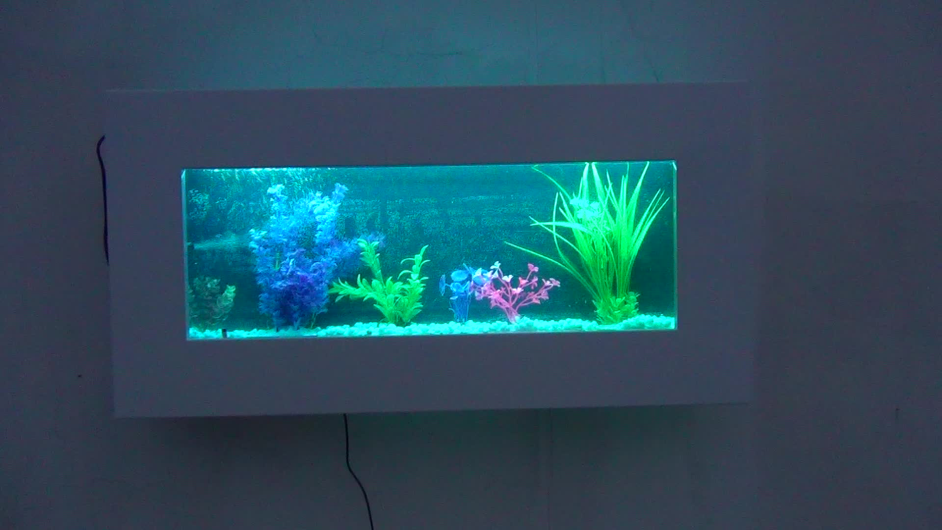 Wall Mounted Rectangle Aquarium Fish Tank Led Light For Hotel And Hall Decoration