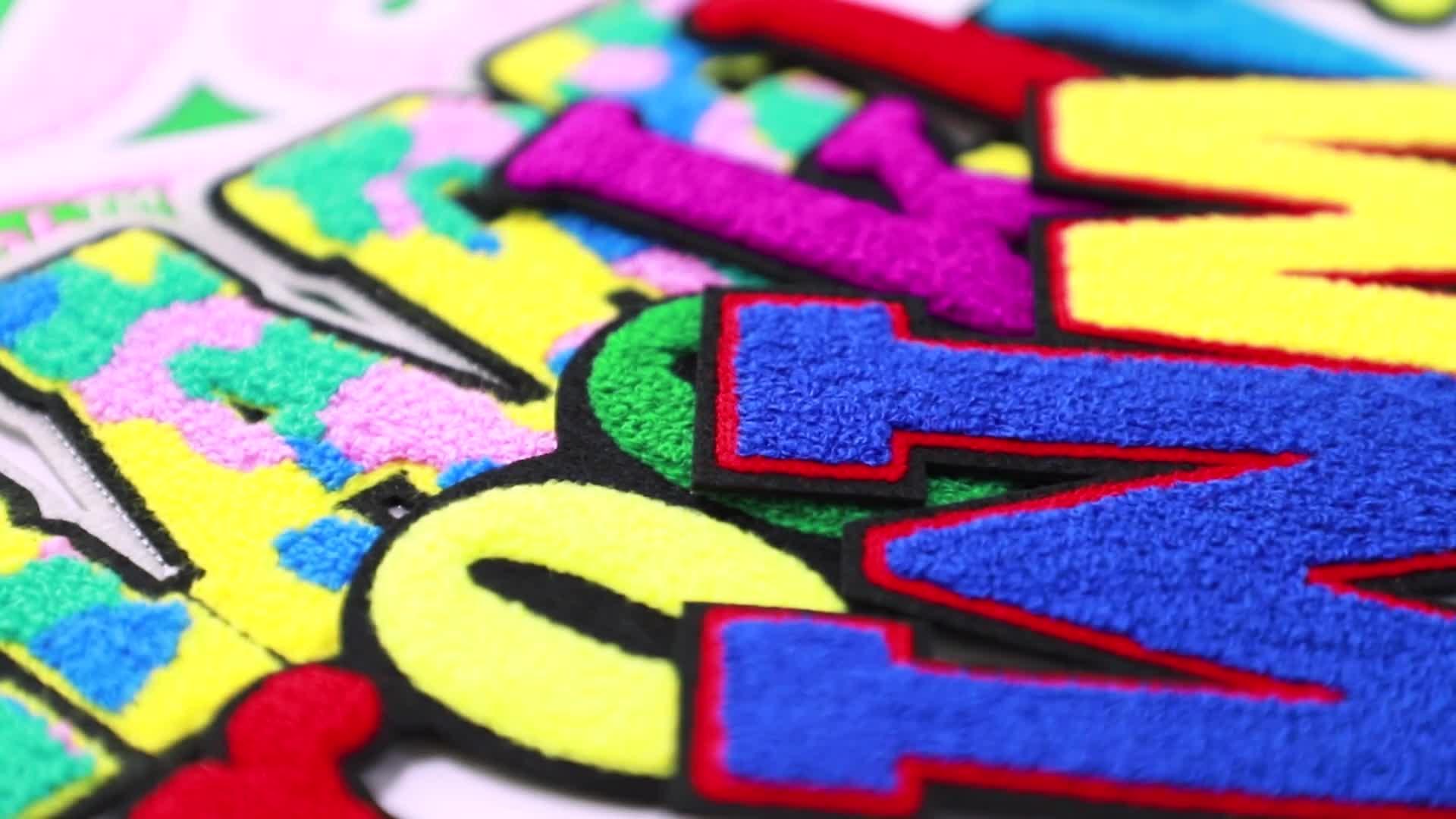 Özel şönil yama ALWAYSFRESH yama harfleri alfabe şönil yamalar harfler dikmek destek giyim için