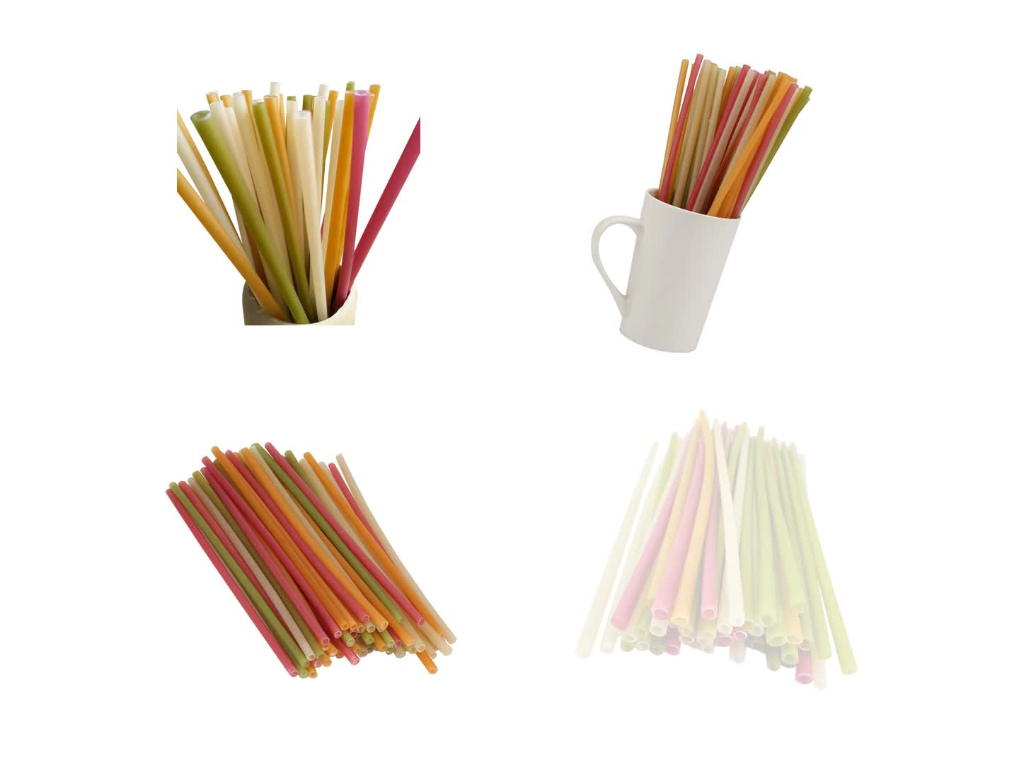 Disposable rice make wheat Straw Biodegradable Compostable Non paper straw edible Straw Wholesale