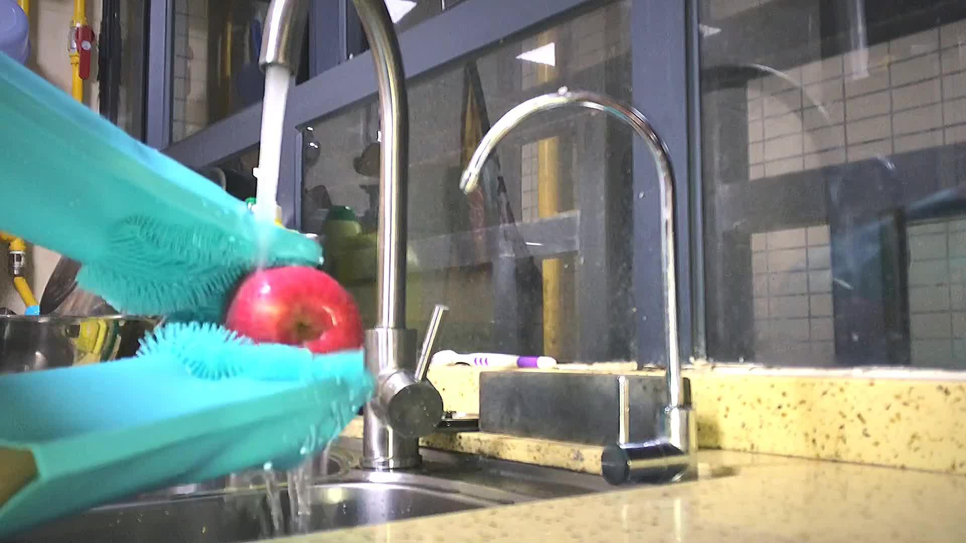 Eco Magia luvas de lavar luvas de silicone Resistente Ao Calor de silicone, luvas de limpeza, luvas de lavar louça silicone