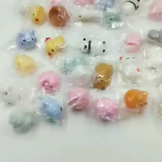2019 Hot Koop Meest Populaire Hoge Kwaliteit Grappige Leuke TPR Squishy Mini Mochi speelgoed Zachte Kawaii Stress Relief Speelgoed Geschenken voor Kids