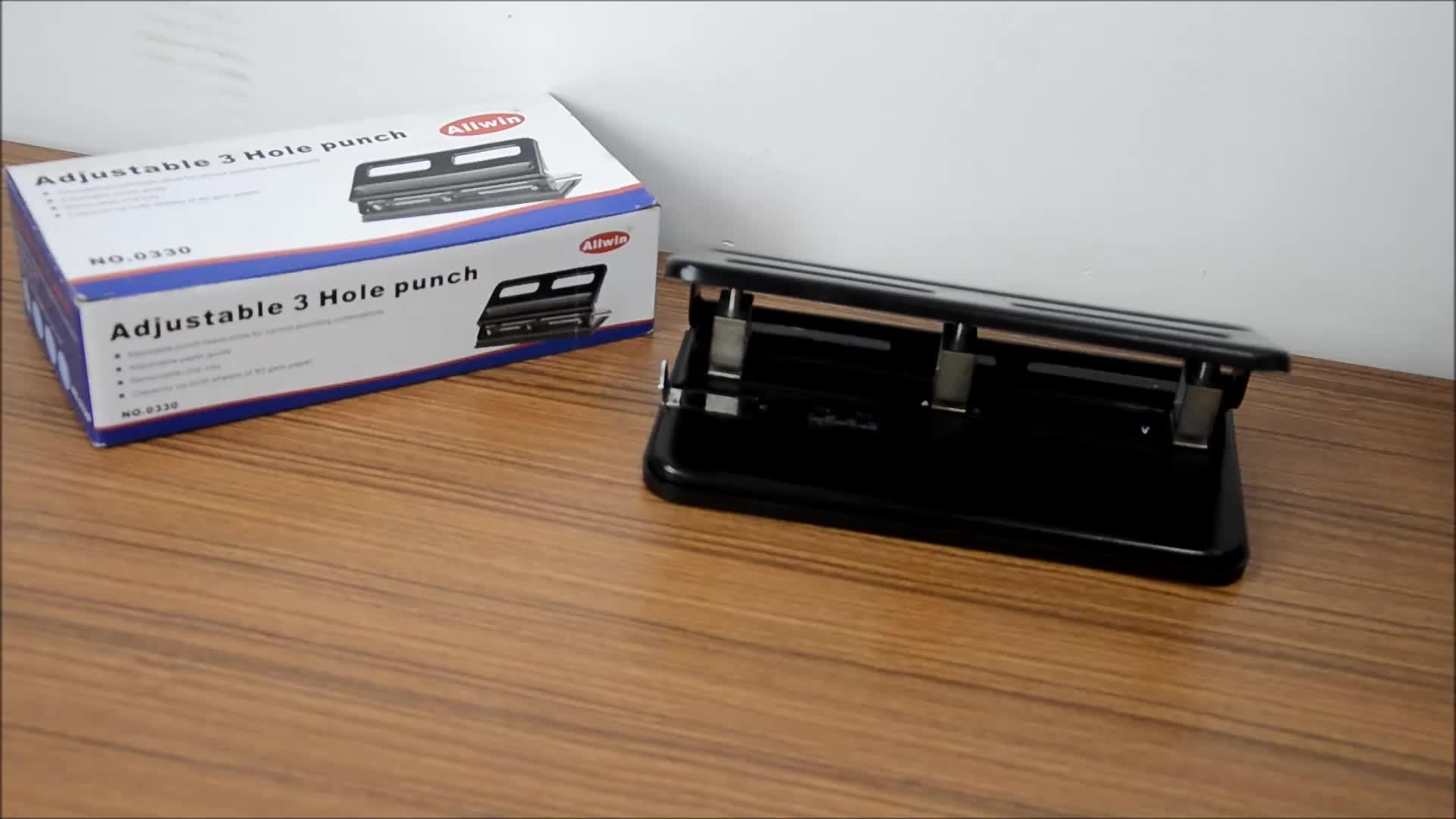 Di alta qualità regolabile a tre ufficio foro pugno pugno di carta macchina foro di carta puncher