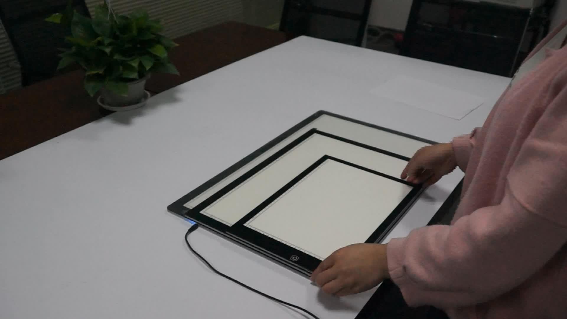 Ultra ince ışıklı çerçeve ışık kutusu A2 akrilik Panel çocuk LED çizim kurulu animasyon çizim eskiz kurulu