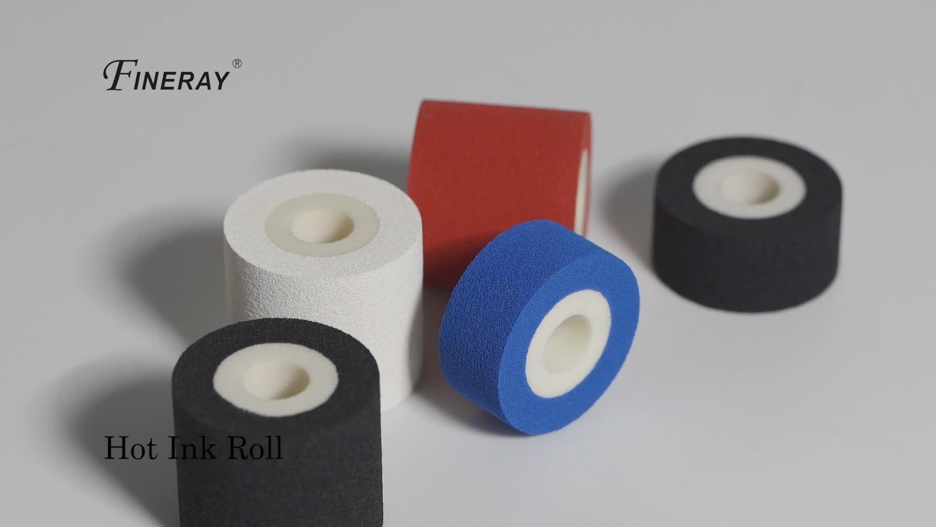 Schwarz fineray farbwalze heißschmelztinte walze/hot farbrolle für datumkodierung Hilfe in lebensmitteln und Apotheke Branchen, 36mm*36mm