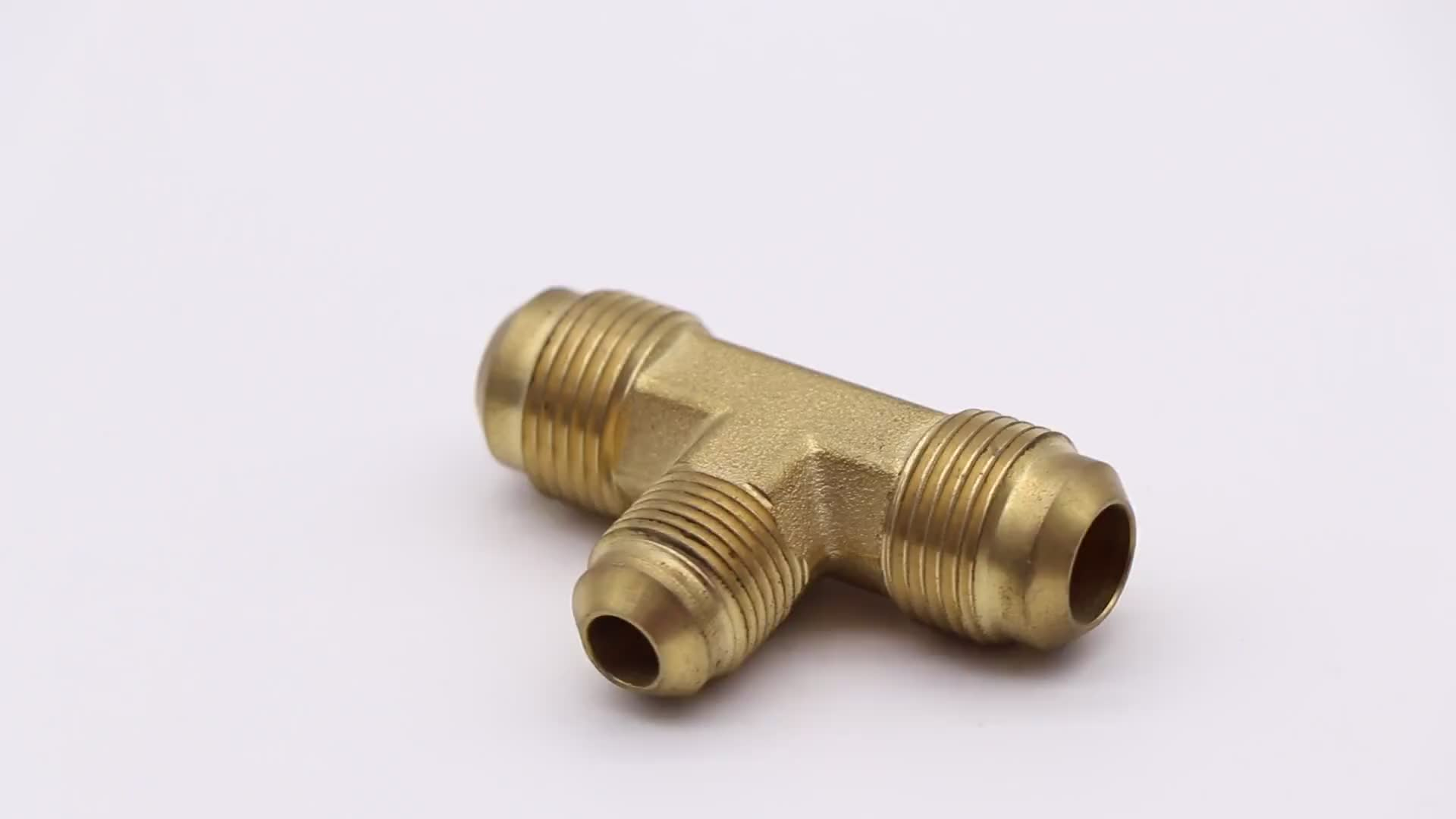 K520 male thread  tee brass invert flare fitting for heating and refrigeration