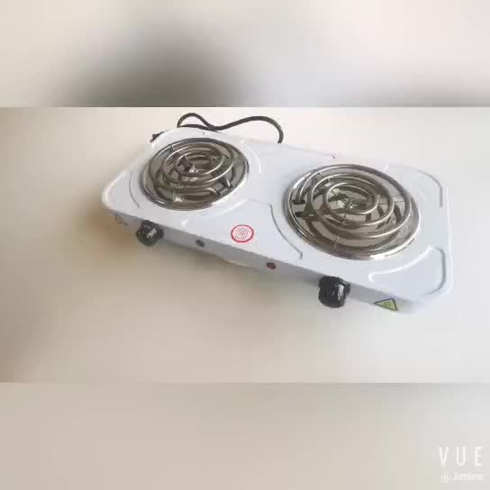 New electric 1500W 110V 2 burner electric solid hot plate cooking