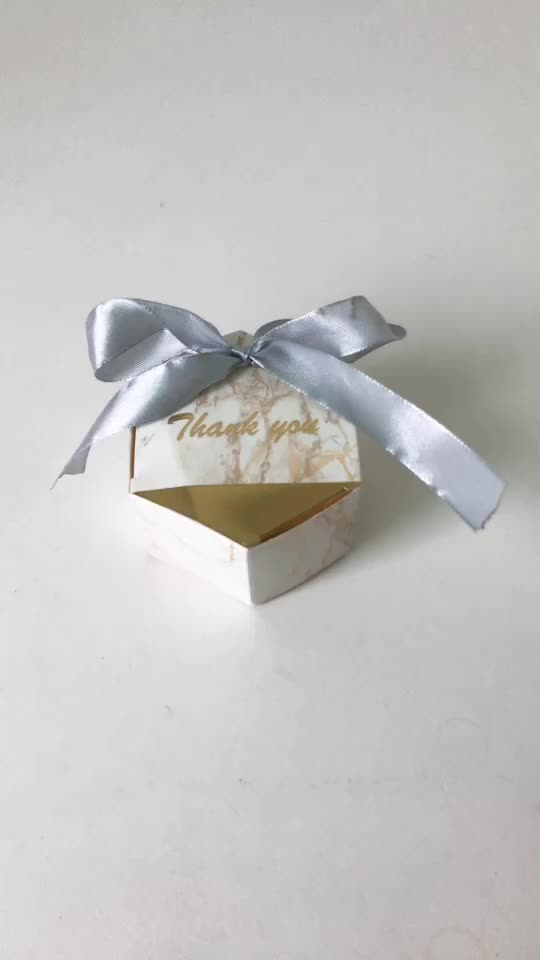 Europe paper marble candy box wedding candy gift box
