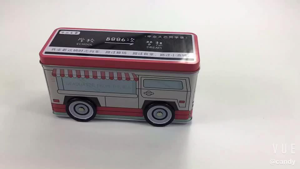 Thiết Kế dễ thương Tin Đồ Chơi Xe Buýt/Xe/Robot Thiết Kế đối với Kẹo, Đồ Chơi Container
