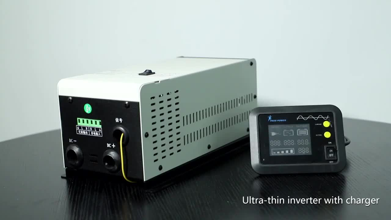 Uninterrupted power  pure sine wave dc ac 220v low frequency inductive load 1000w inverter with charger