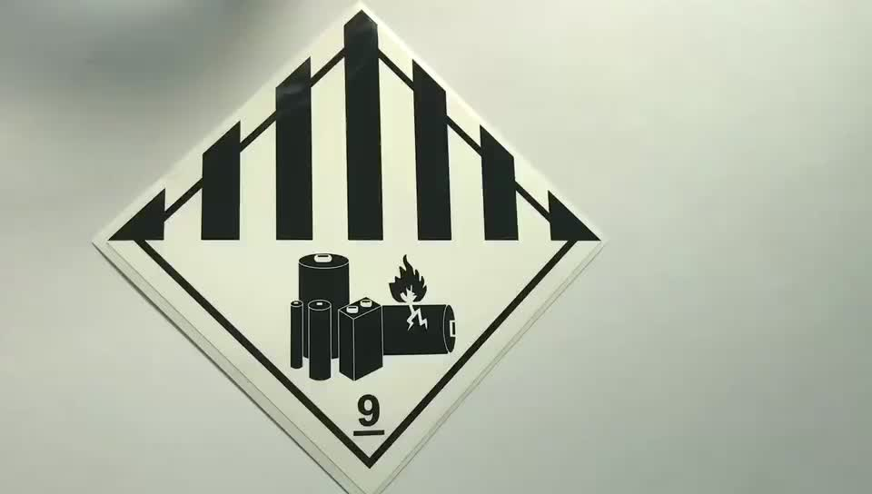 Chemical resistant sunlight restant oil resistant eco-friendly warning adhesive waterproof sticker
