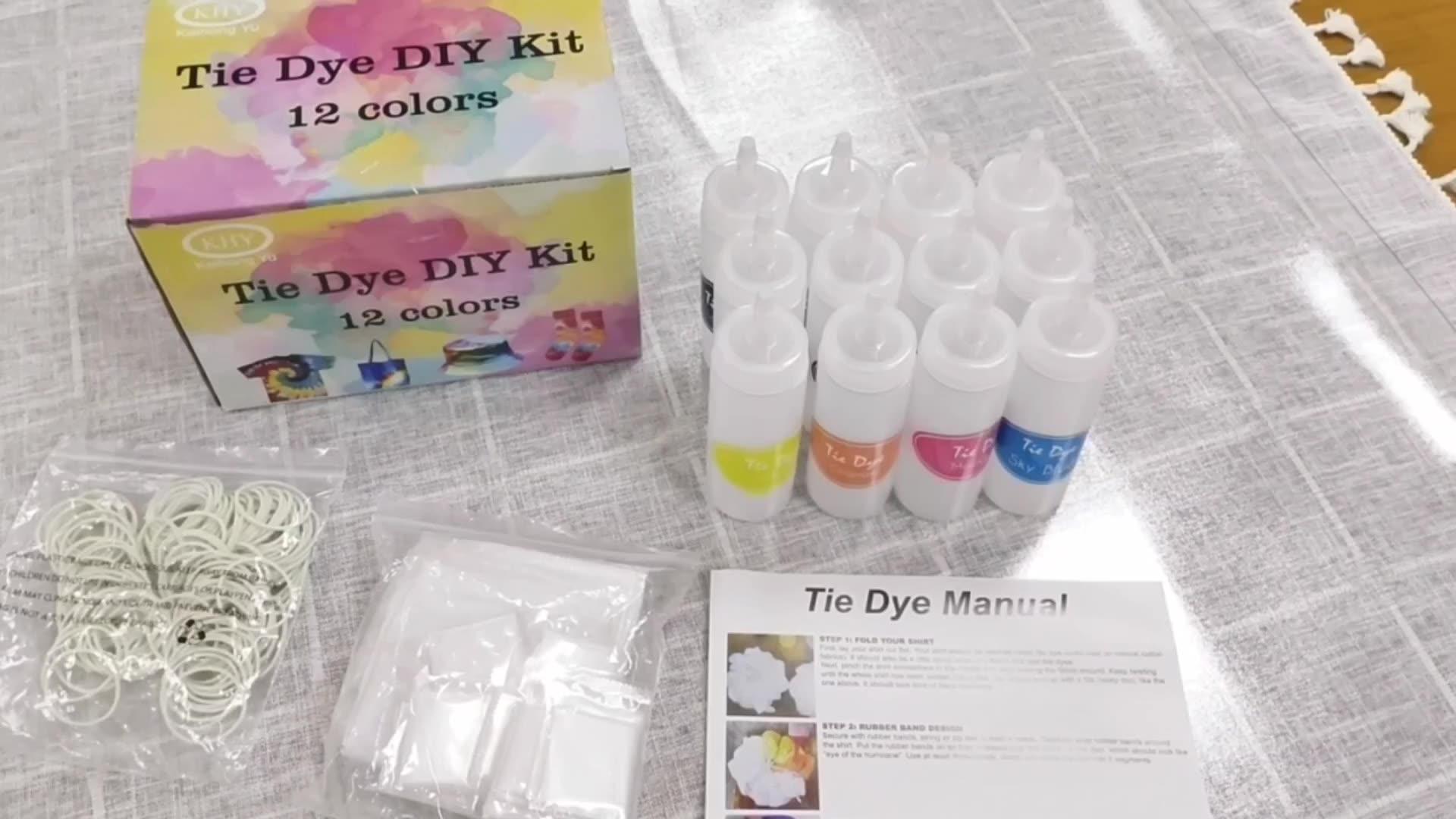 Tie Dye Kit Đối Với Trẻ Em Và Người Lớn-Dễ Dàng DIY Tie Dye Đảng Kit Với 18 Màu Sắc, Vải Nhuộm Nạp, Ban Nhạc Cao Su