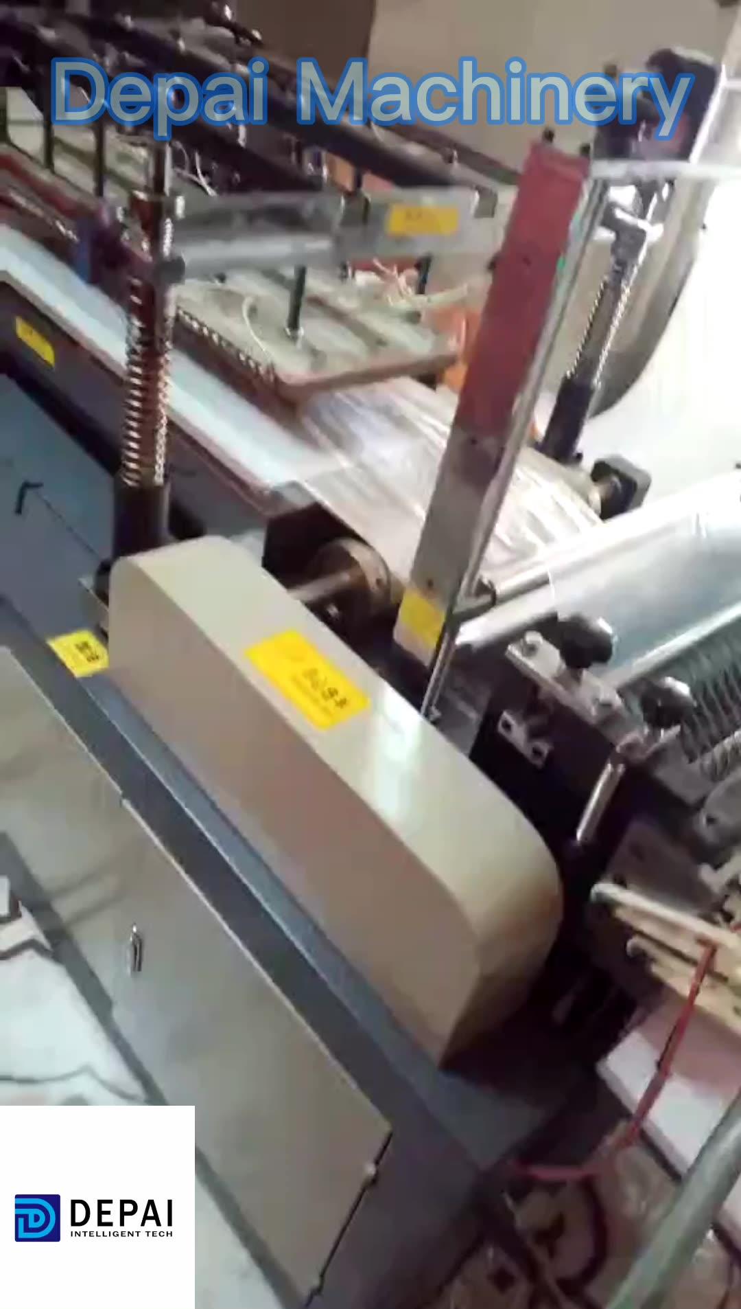 High speed plastic film PE HDPE long arm glove making machine for sale