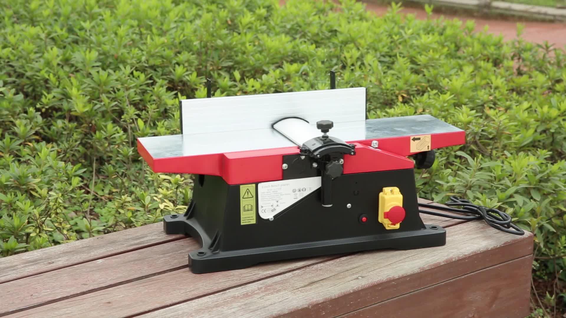 Plaina de madeira elétrica mini máquina de bancada 230 v