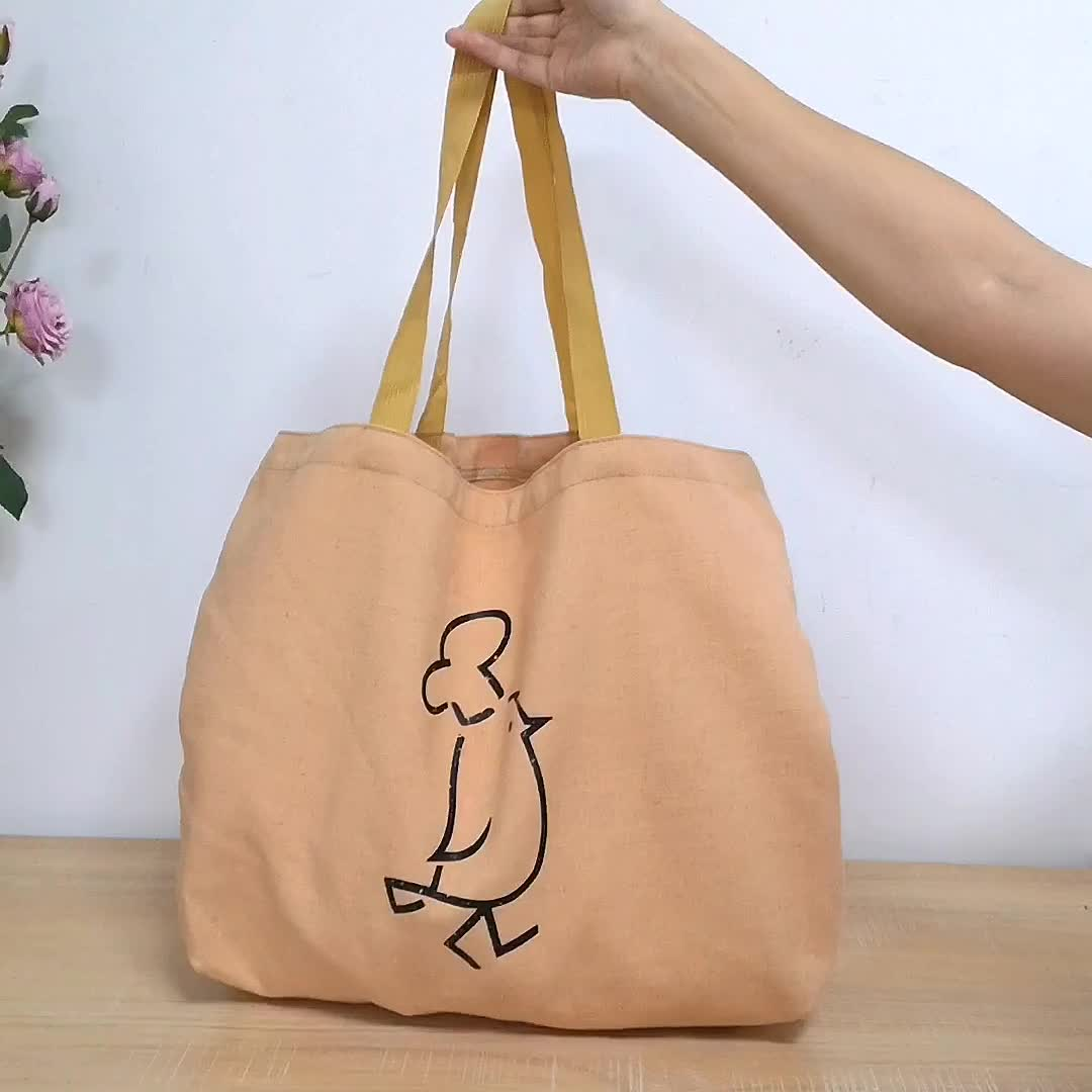Wholesale Reusable Ladies  Jute Grocery Large Tote Bags Linen Shopping Bag