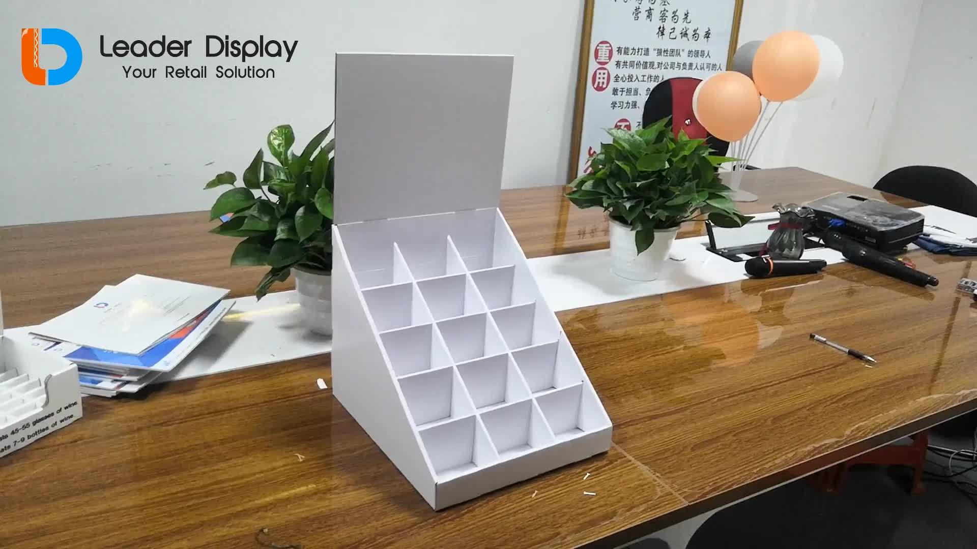 Good Sales Promotional POP Accessories Counter Template Cardboard Display Box