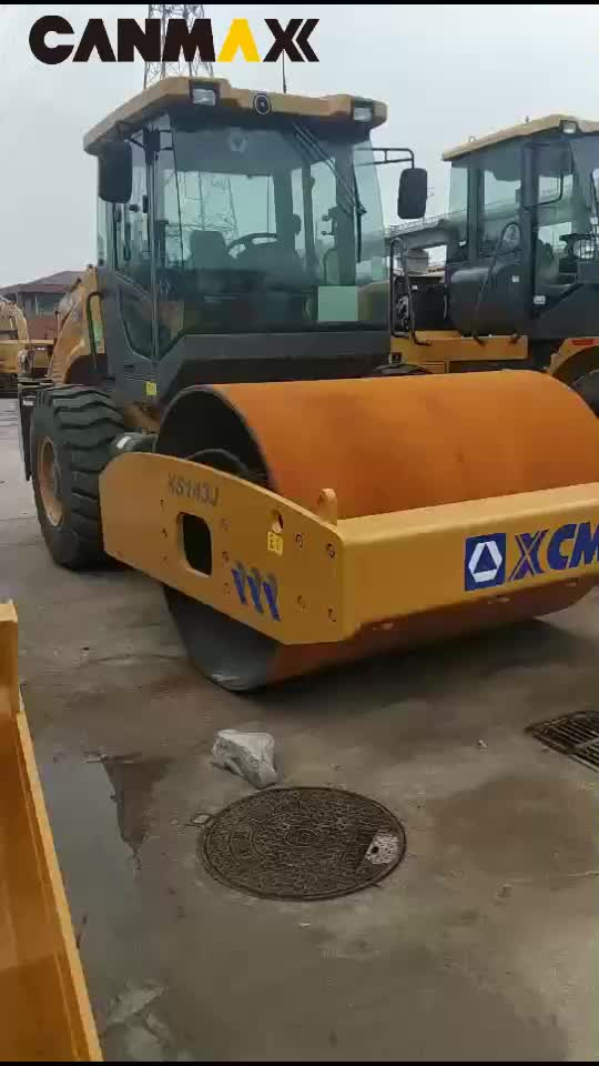 14T Road Roller with  Axle XS143J XS142J ;Small Single Drum Road Roller ;14t Vibratory Grader with  Axle