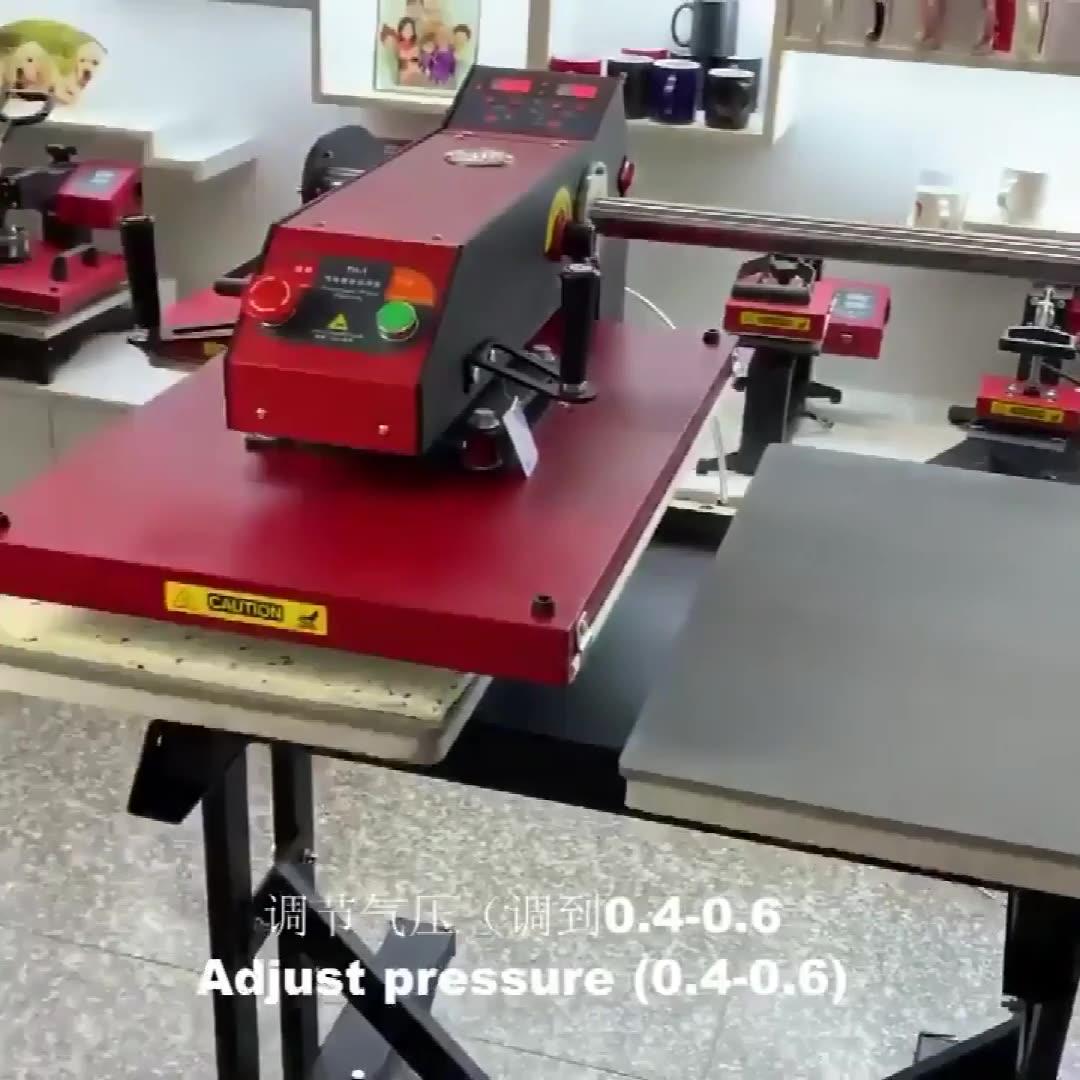 CUYI Heat Press Machine T-shirt Printing Machine Pneumatic Double Station Heat Transfer Machine