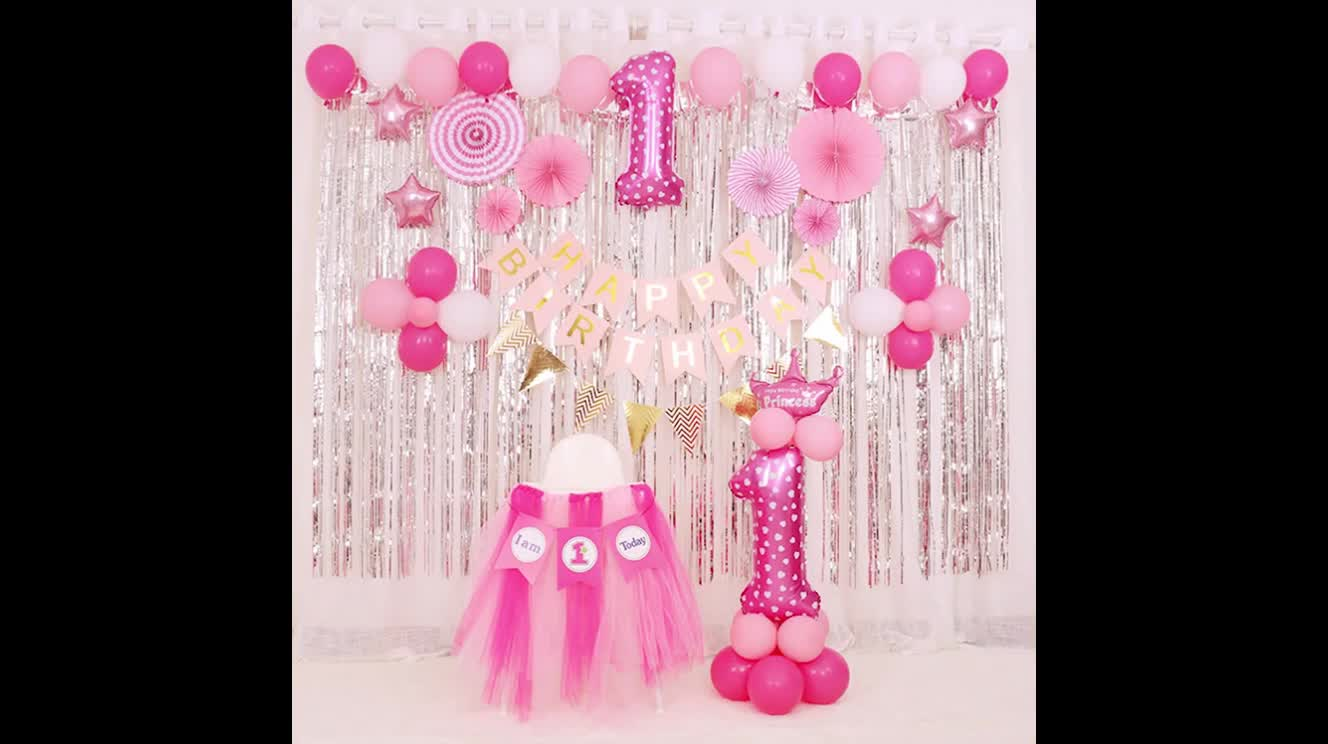 YB Feliz cumpleaños decoración de fiesta azul Rosa número metálico lámina de oro globo niños niño niña figura de helio globos de fiesta
