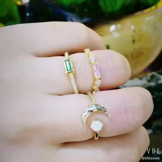 14K Vergulde Stone Dunne Ring Sieraden Fabriek Aanpassen Turkse Ringen