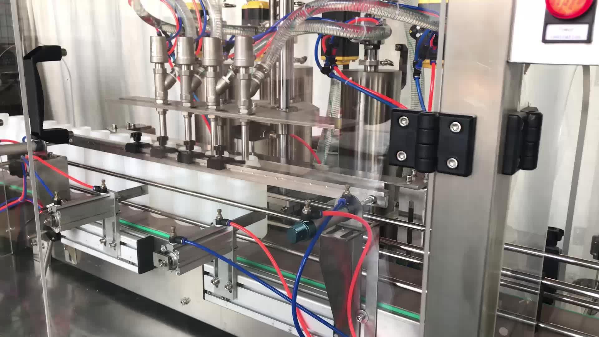 Linear automático De Enchimento De Pistão Mel Óleo/Creme/Molho de Tomate Colar Máquina De Enchimento Líquido com Servo Motor