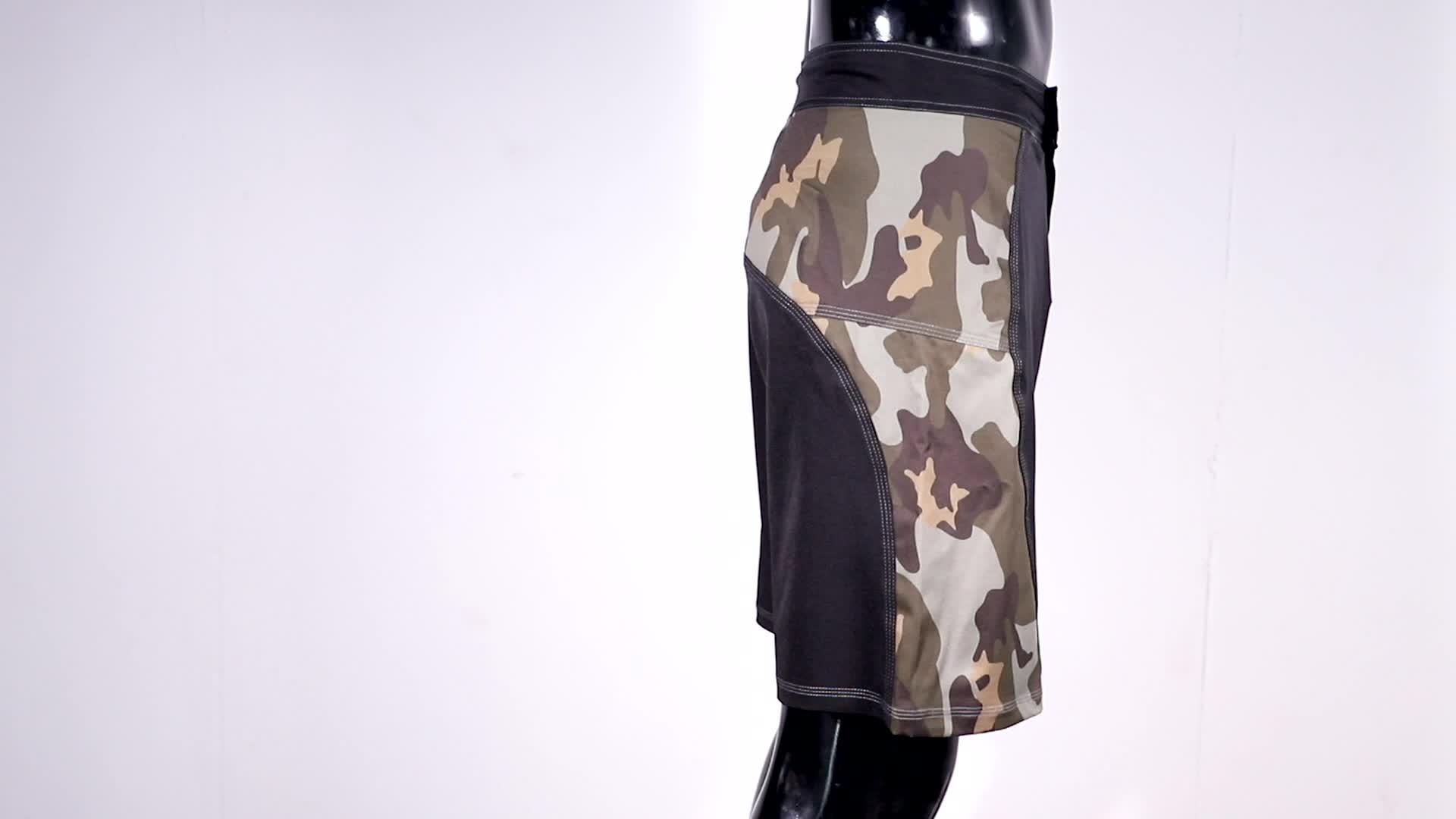 MARTIAL BRAND ,fashion camo 2 way stretch fight shorts for mma men