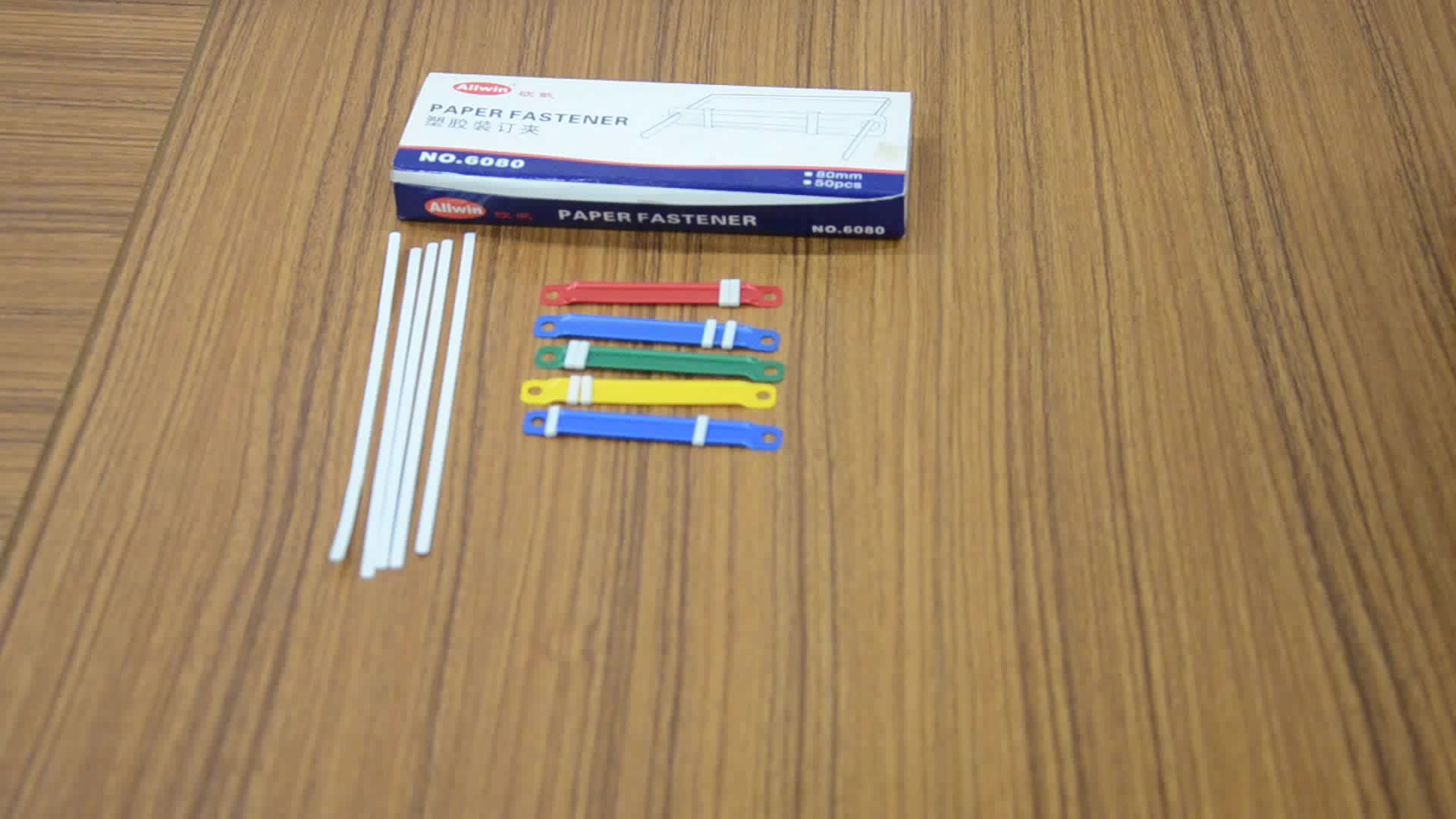 Professional factory in producing 8cm colorful paper fastener