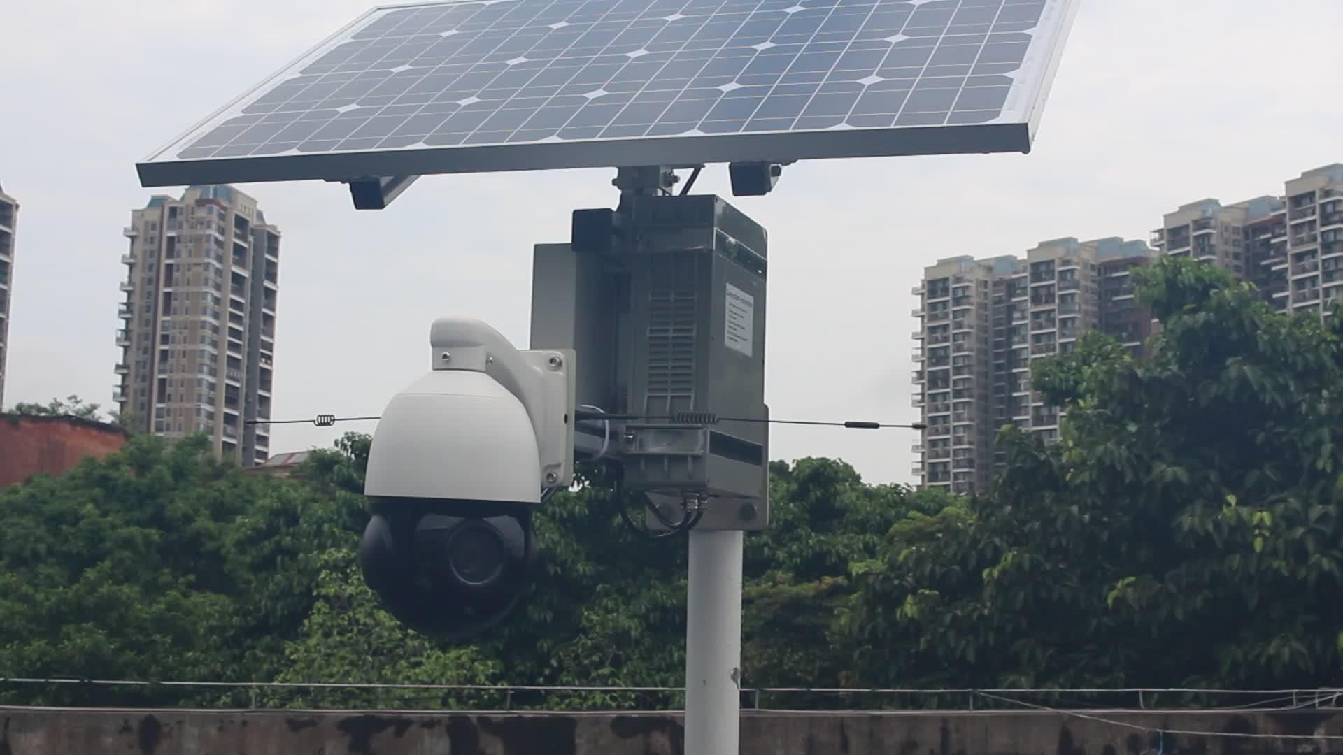 Güneş enerjisi cctv kamera sistemi açık kablosuz wifi 4G / 3g ptz ip kamera