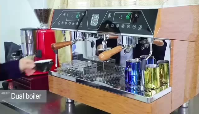 Commercial espresso coffee machine  Italian double group  Cappuccino  maker  3 in 1 coffee maker