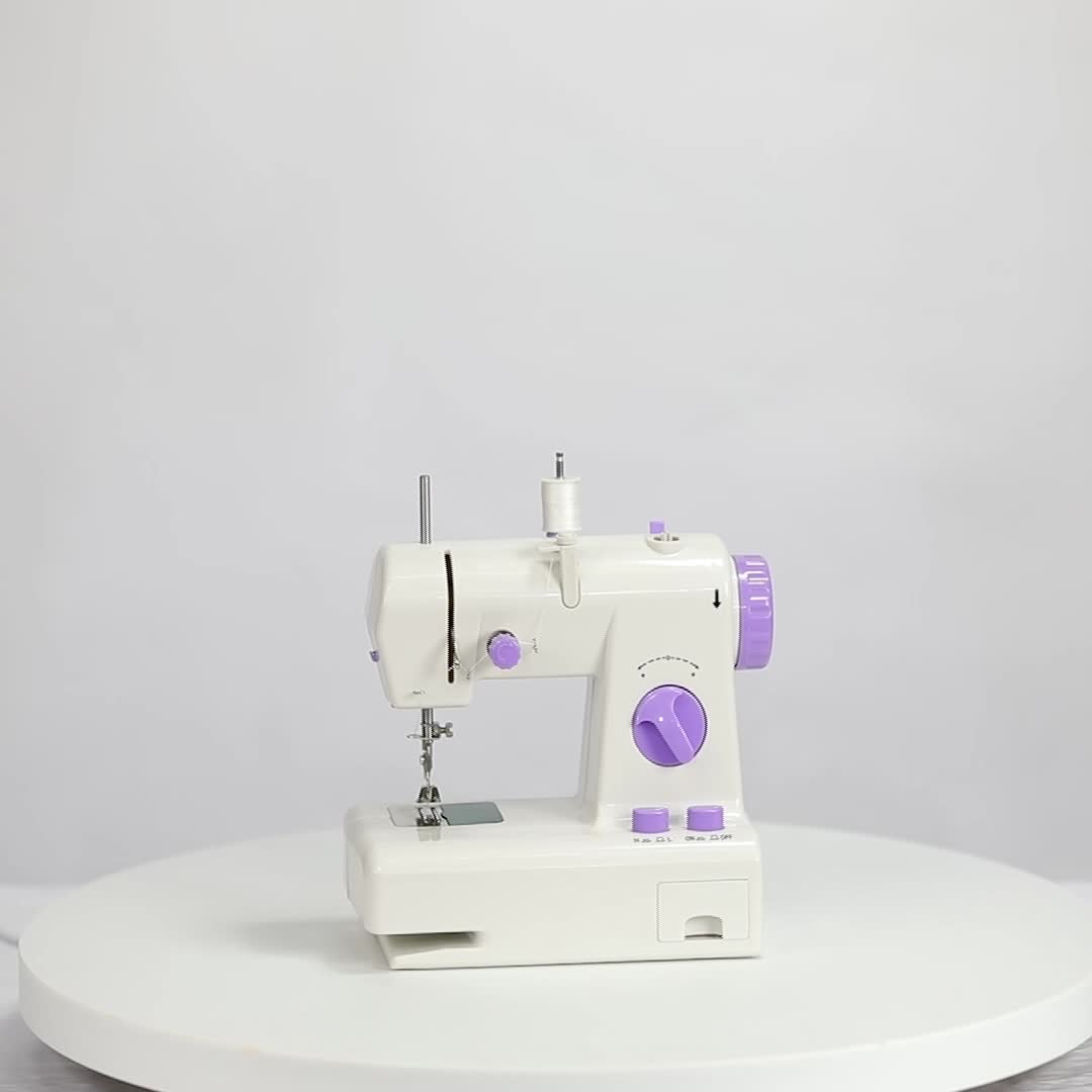 Mini electric household sewing machine FHSM-208 with reverse stitching