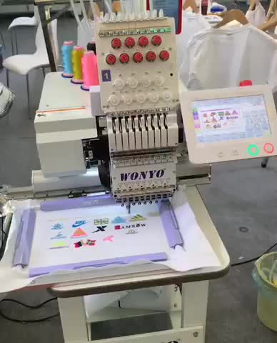 Single head portable compact tubular drop table bag shoes cap T-shirt computer embroidery machine monogram machine