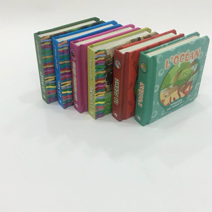 Venda quente Inglês História Crianças Livro de Capa Dura Livro de Colorir Espuma De Impressão Livro De Capa Dura Com Caixa de Exibição Kid Aprendizagem Livro de Impressão