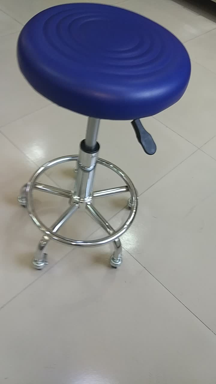 Hot Sales Medical Stainless Steel Adjustable Hydraulic Pressure Hospital Chair Modern High Stool With Backrest