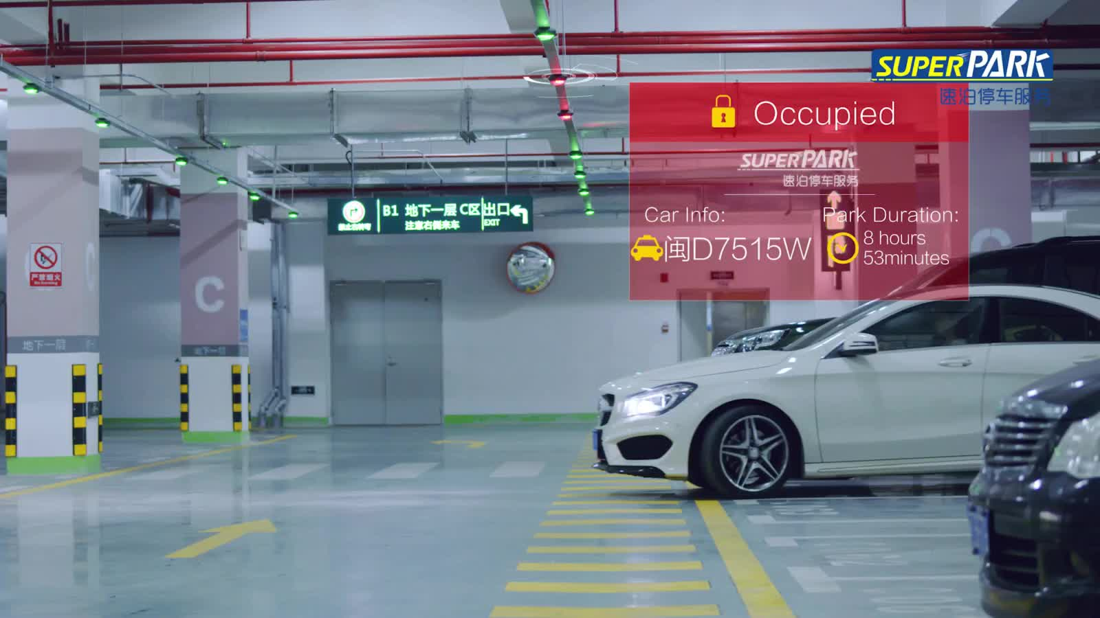 Camera Parking Guidance and Management System