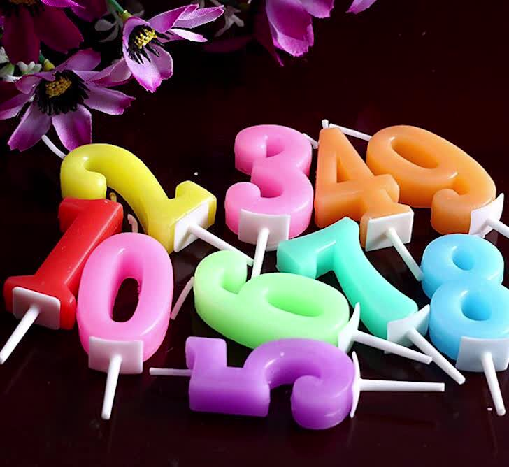 Wholesale lower price and high quality colorful birthday candle glitter