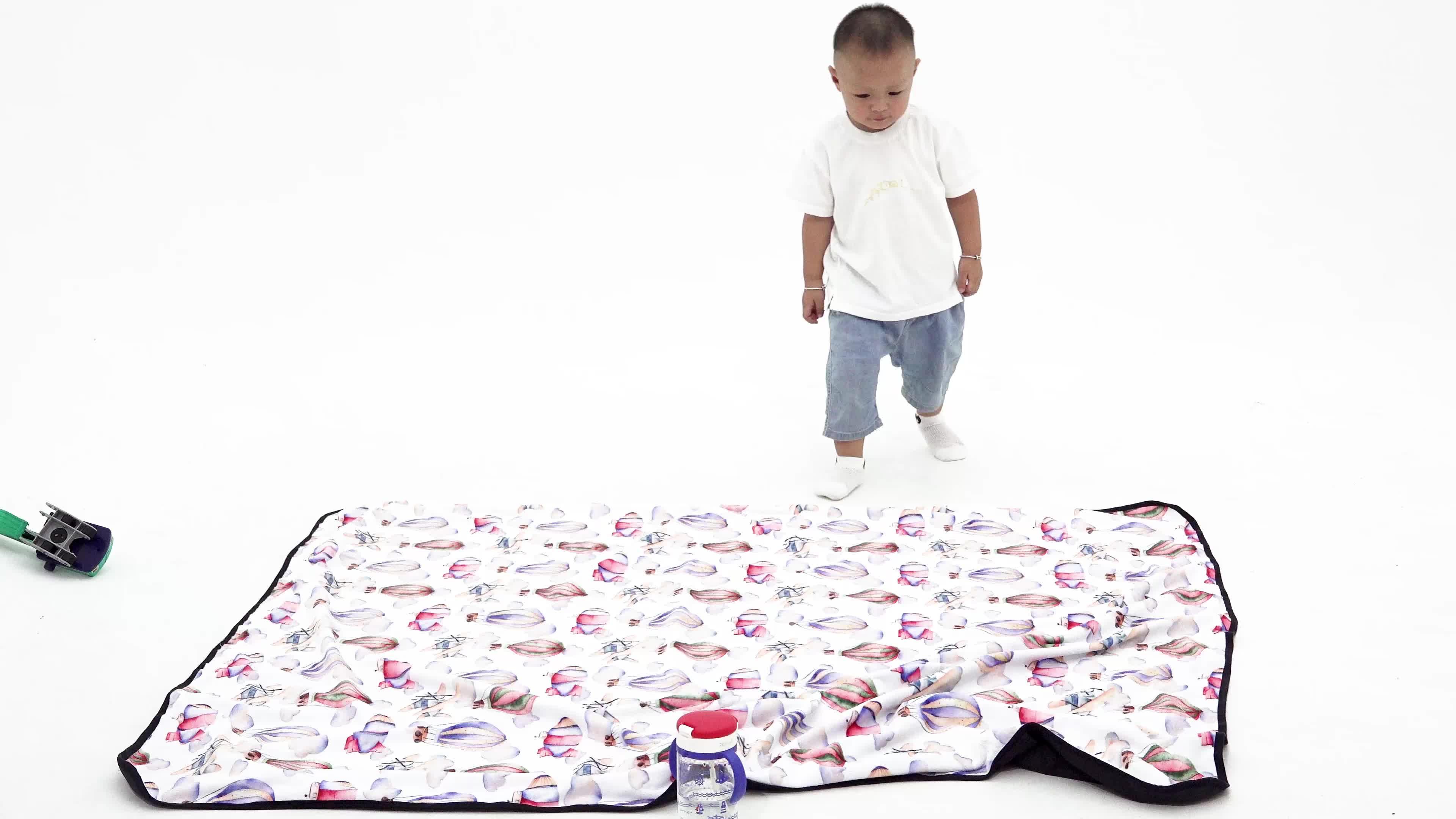 Nouvelle conception de haute qualité personnalisé super doux grand imperméable à l'eau couverture de bébé